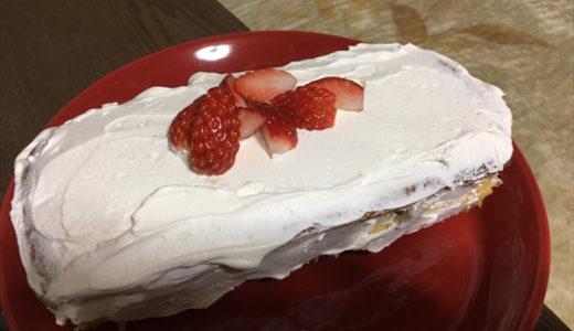 オリジナル イチゴ スポンジケーキをつくった [I made a strawberry sponge cake]